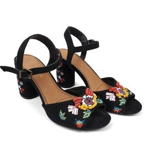 Rampage Wynne Beaded and Embroidered Heels